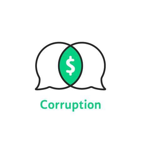 thin line simple corruption