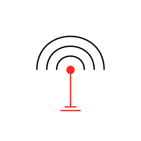 thin line wifi signal icon isolated on white