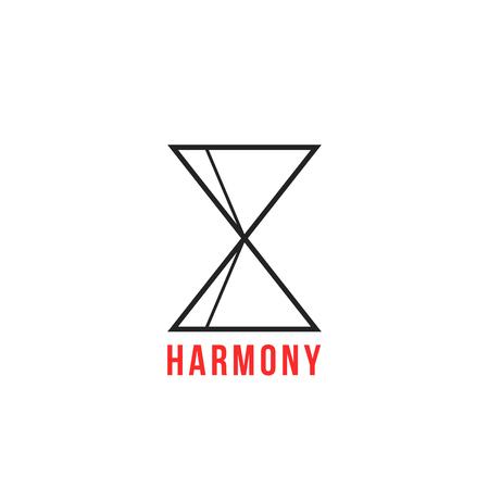 thin line balanced figure like harmony