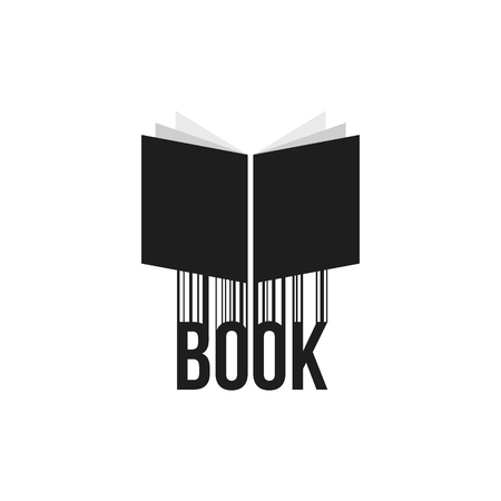 simple black book icon with barcode Иллюстрация