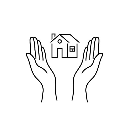 femme mains comme l'assurance immobilière