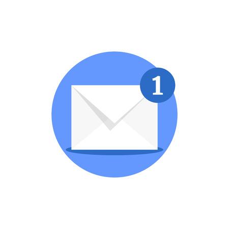 email receiving like online notification Ilustração