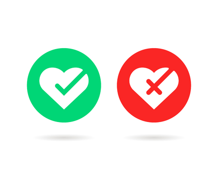 check marks icon like hearts