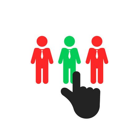 hand select employee like recruitment Illustration