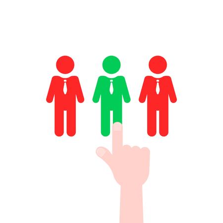 recruitment process like employee select Illustration