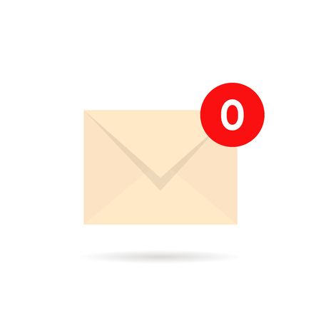 empty inbox with zero mail Ilustrace