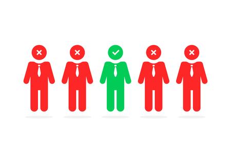l'employé sélectionne comme le processus de recrutement Vecteurs