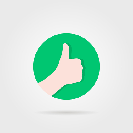 thumbs up like sure round logo