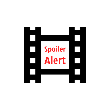 spoiler alert icon with film strip