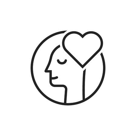 thin line lover man black logo