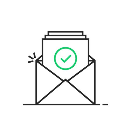 thin line confirmation email illustration