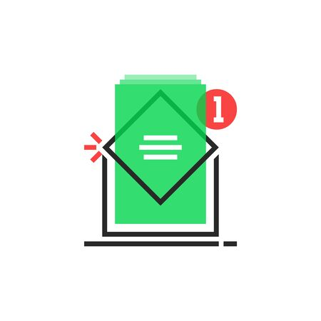 color email icon like inbox notice