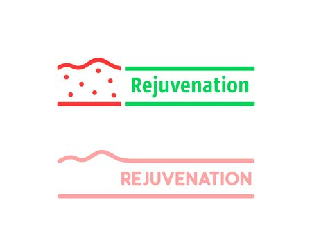 thin line set of rejuvenation illustration
