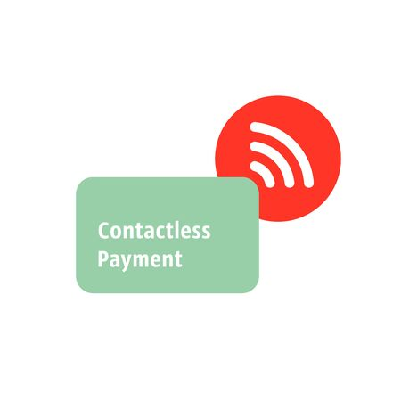 contactless payment simple icon