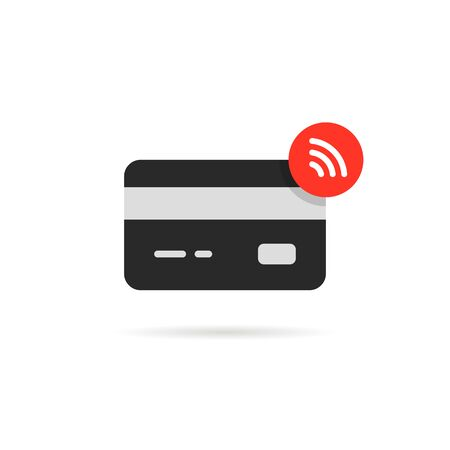 contactless payment icon isolated on white