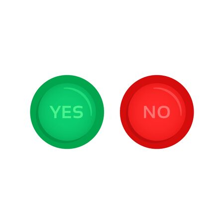 red and green yes and no buttons