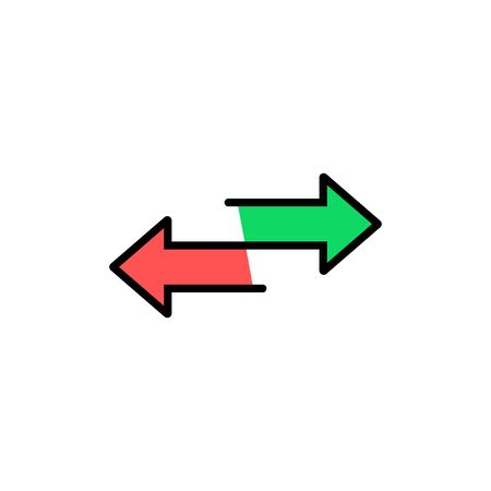 red and green arrow like transfer Vectores