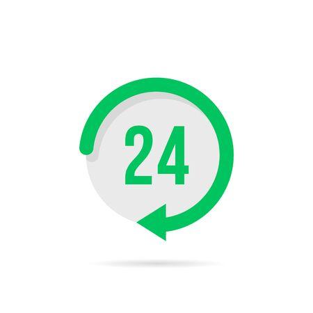 twenty-four hours a day green button