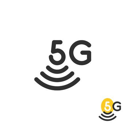 black simple 5g wireless Фото со стока - 135044599