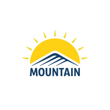 color simple mountain
