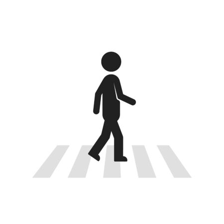 black stick figure man like pedestrian
