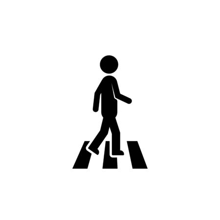 pedestrian icon like black stick figure