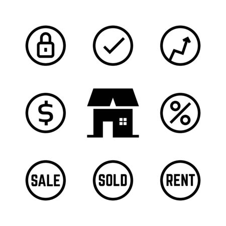 linear icons for real estate agency
