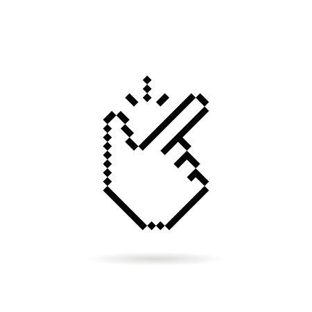 pixel art snap finger like easy icon Ilustración de vector