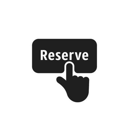 finger presses on black simple reserve button