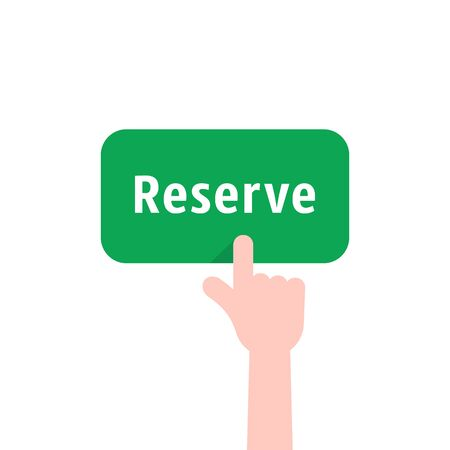 green reserve button with hand