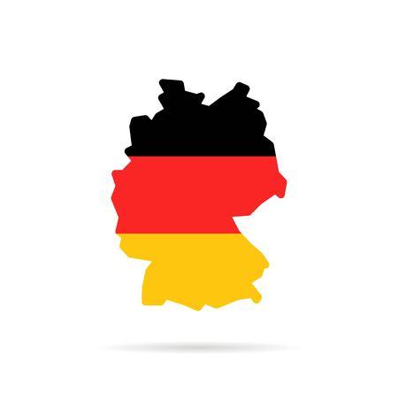 simple color germany map with shadow Illusztráció