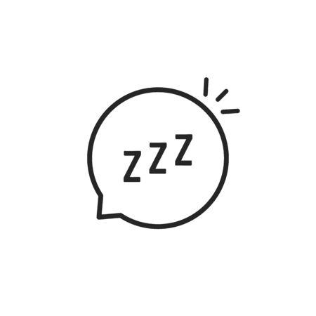 linear speech bubble like zzz