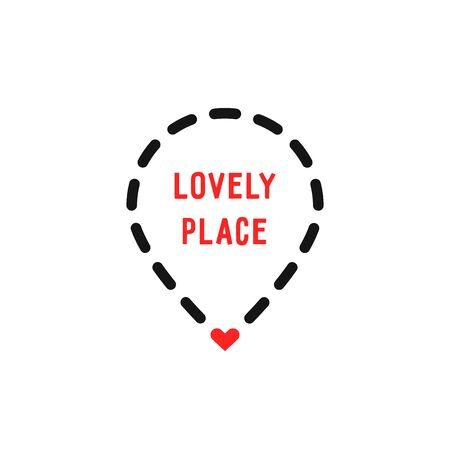 lovely place logo like dotted geotag