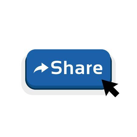 blue cartoon share button icon