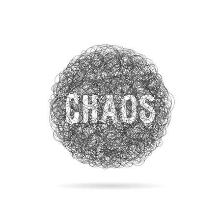 scribble black line like chaos ball