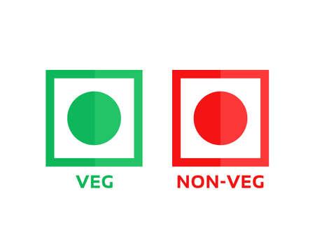 veg and non-veg minimal symbol
