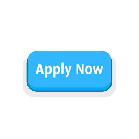 apply now blue cartoon button Vecteurs