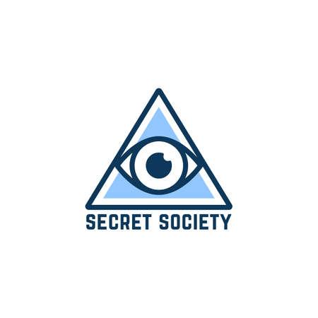 simple blue secret society Stock Illustratie