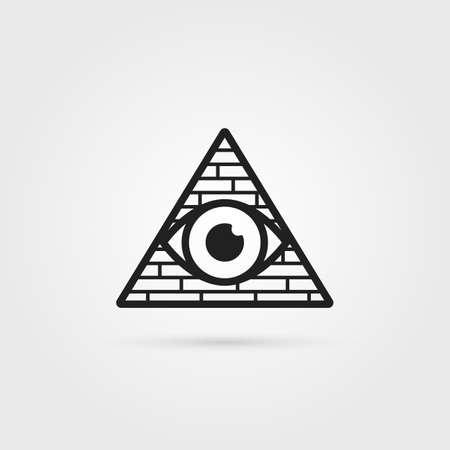 black secret society icon with shadow