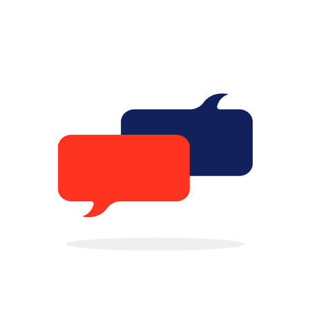 colored chat room icon with popup Иллюстрация