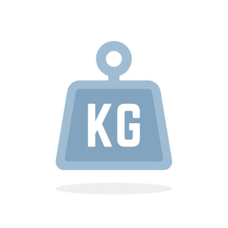 blue kg icon isolated on white