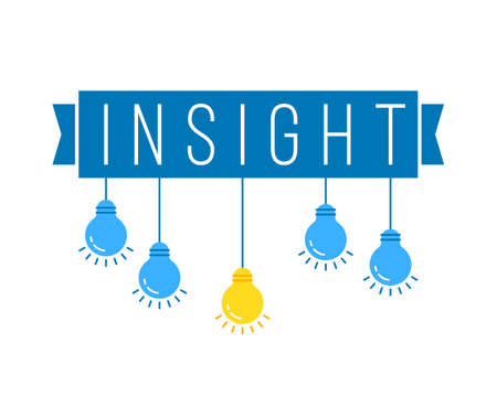 insight with hanging set of colored bulb