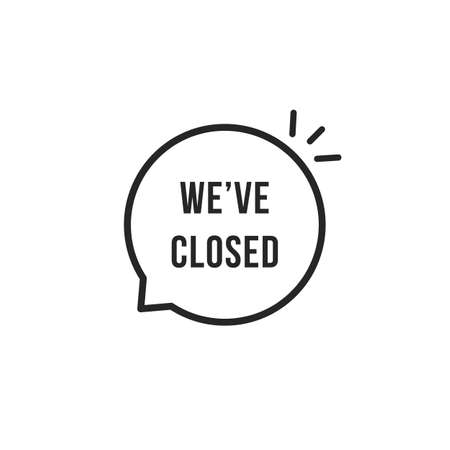 we have closed thin line bubble Illustration