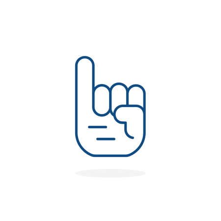 thin line promise icon with pinky finger