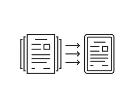 paperless concept of evolution to digital files