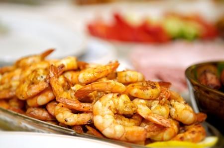 prepared shrimp: Prepared shrimp on a dish