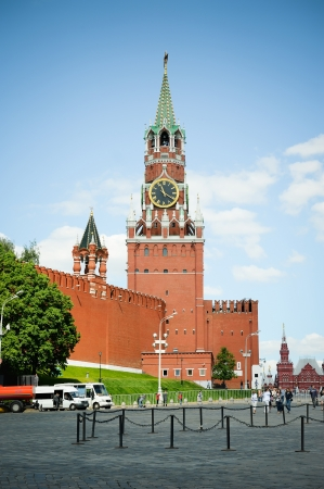 Clock tower at the red square Stock Photo - 15509190
