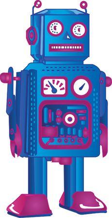 retro robot photo