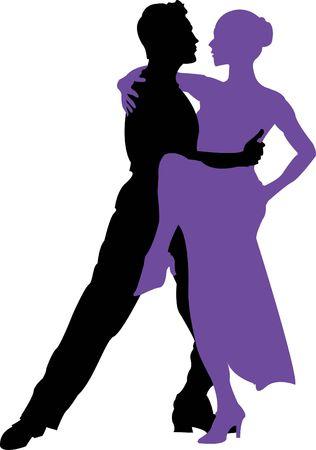 Ballroom dansen Stockfoto