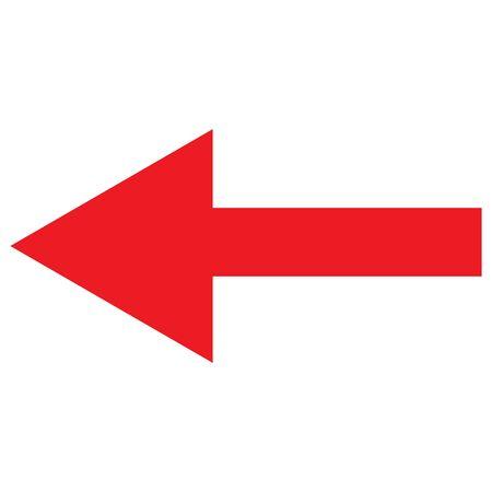 Left arrow symbol icon vector illustration graphics design. Forward,Left move. - Great for label, icon,print, web etc.